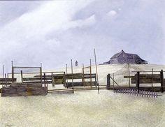 Wynn Chamberlain, The Barricade, 1958, via Flickr.