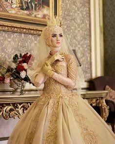 127 Gambar Pengantin Muslim Terbaik Di 2019 Pengantin Gaun