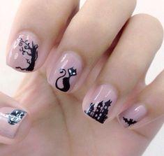 Halloween nail art - 45 Cool Halloween Nail Art Ideas <3 !