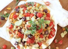 Ultimate Mediterranean Chopped Salad SWANK NOTE:  Fat free feta cheese only