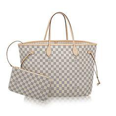 Neverfull GM - Damier Azur Canvas - Handbags   LOUIS VUITTON