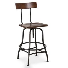 "Threshold™ Industrial 29"" Barstool - Brown"