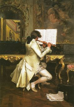 """""""The Flute Player"""" by Charles Bargue (1880)"""