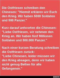 Die Ostfriesen schreiben den Chinesen.. | DEBESTE.de, Lustige Bilder, Sprüche, Witze und Videos