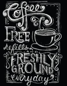 Chalkboard Coffee Poster on Etsy, $18.00