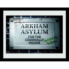 [Batman: Print: Arkham Asylum Sign (Product Image)]