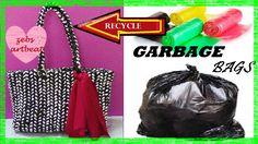 DIY  The Basket Bag  Recycle Plastic Bags