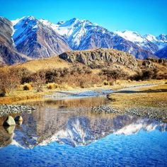 Mt Sunday, Ashburton Lakes, New Zealand — by YoungAdventuress. Mt. Sunday which you might recognize as Edoras in the Lord of the Rings - took them 11 months to build the set here,...