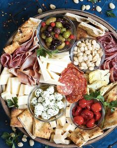 15 Drop-Dead-Gorgeous Charcuterie Boards to Elevate Your Din.- 15 Drop-Dead-Gorgeous Charcuterie Boards to Elevate Your Dinner Party Charcuterie And Cheese Board, Charcuterie Platter, Antipasto Platter, Cheese Boards, Antipasti Board, Cheese Board Display, Tapas Platter, Charcuterie Display, Snacks Für Party