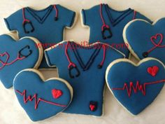Nurse cookies- I could probably make the hearts?