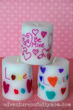 Personalized #Valentines Candle  I love this idea. Great for Grandparents, Teachers and Parents too!
