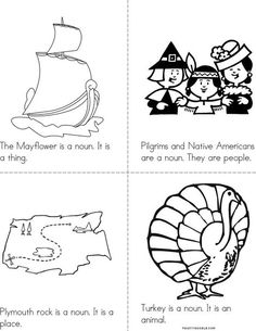 Thanksgiving Nouns Book from TwistyNoodle.com