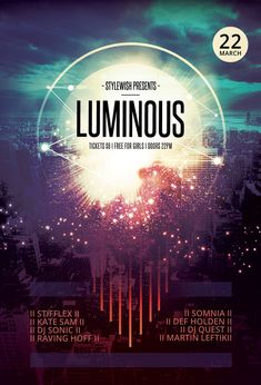 Luminous Flyer by styleWish on Graphicriver (Buy PSD)