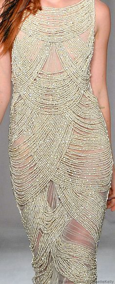 Marchesa | Spring 2014 -- wow. beautiful but not sure I could pull this off (wonder how noisy it is?)