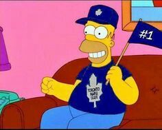 ) Even Homer loves the Toronto Maple Leafs Toronto Maple Leafs, Hockey Live, Mitch Marner, Maple Leafs Hockey, Hockey Boards, Toronto Photography, National Hockey League, Chicago Blackhawks, Nhl