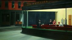 Edward Hopper, Nighthawks, 1942 | One of the best videos about Nighthawks that I've seen. —Dr. J #hopper #art JournaltoHealth.com