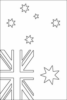 Australian flag coloring page - Free Printable Coloring Pages