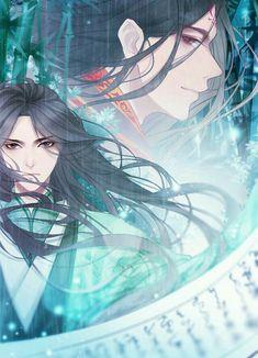 Luo Binghe and Shen Qingqiu Fantasy Art Men, Handsome Anime, The Grandmaster, Boy Art, Couple Art, Thing 1, Light Novel, Fujoshi, Chinese Art