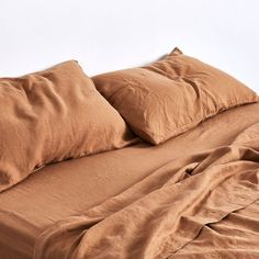 100% Linen Flat Sheet in Clay — IN BED Store