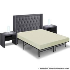 Best Price Quality 6'' Memory Foam Mattress and Bed Frame Set