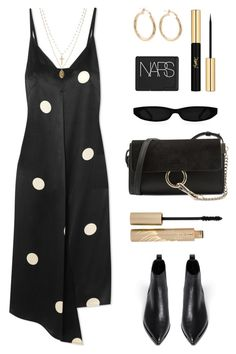 """""""Silk"""" by baludna ❤ liked on Polyvore featuring Petar Petrov, Yves Saint Laurent, ASOS, NARS Cosmetics, Chloé, Acne Studios and Stila"""