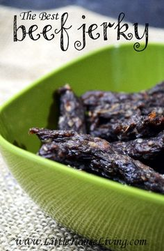 This is the BEST Beef Jerky Recipe! Super tasty and inexpensive to make since it uses ground beef! I'm making this for a high protein snack!