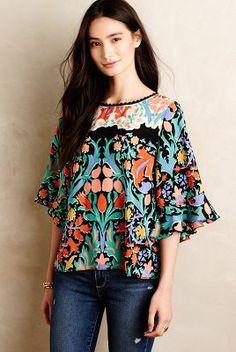 My favorite new top! Folkart Kimono Top by Maeve