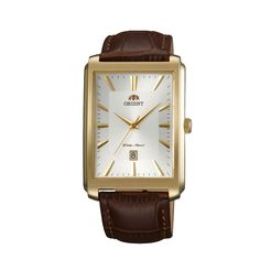 Buy Online #Orient Dressy #Quartz Men White Dial Brown Leather Strap Square #Watch @  www.orientwatch.in for Rs.9,292.50/-