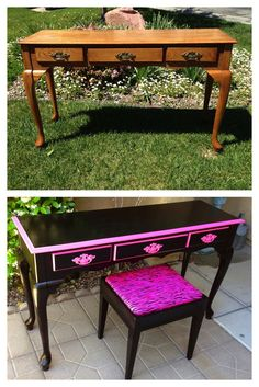 Vintage, shabby, refinished, painted, before and after, refurbished, furniture, DIY, make-over