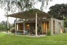 Fachada de casa de campo rústico #Fachadasdecasas