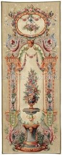 The Elysee Portiere is a tall slim French tapestry commissioned for the Elysee Palace by Empress Eugenie. Browse for more portieres. Vintage Walls, Vintage Paper, Decoupage, Aubusson Rugs, Beauvais, French Walls, Tapestry Wall Hanging, Tapestry Fabric, Chinoiserie