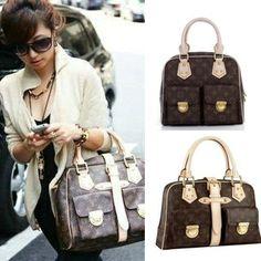 Loui Vuitton Monogram Canvas Women Handbag MANHATTAN GM M40025 $47