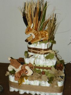 Diaper Cake with hunting theme