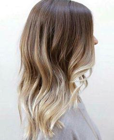 Balayage on light brown hair