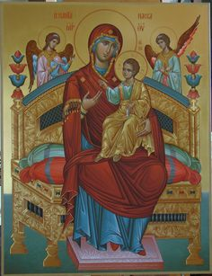 Всецарица Queen Of Heaven, Blessed Virgin Mary, Religious Icons, Orthodox Icons, Blessed Mother, Mother Mary, Little Sisters, Madonna, Worship