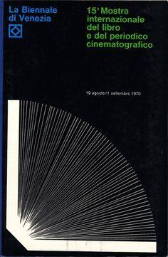 Salvatore Gregorietti, Unimark International - poster for Mostra Internazionale del Libro  e del Periodico Cinematografico #books #poster