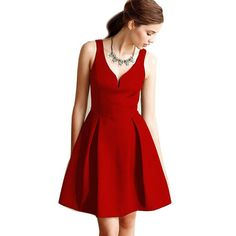 J.L.I New pleated fit and flare dress Sleeveless y women mini party formal 50s rockabilly dress vestiti donna Alternative Measures