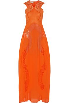 Shop on-sale Stella McCartney Jannine paneled embroidered cotton-blend gauze gown. Browse other discount designer Dresses & more on The Most Fashionable Fashion Outlet, THE OUTNET.COM