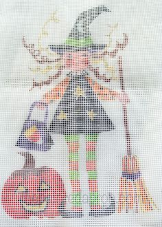 how to trace needlepoint design onto canvas