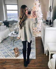 30+ Cute Sweater Outfits to Get You Through Holiday Winter – Lupsona