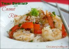 Thai Shrimp with Coconut Rice  l  www.lorisculinarycreations.com