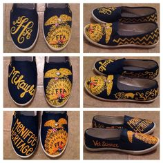 FFA Custom Painted Canvas Shoes by PureSouthernFun on Etsy Ffa Official Dress, Official Dresses, Painted Canvas Shoes, Custom Paint, Country Girls, Blue Gold, Agriculture, Fashion Shoes, My Style