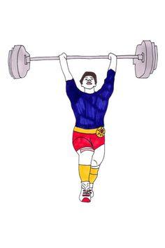 Daisy de Villeneuve Olympics Illustrations Drawings (Vogue.com UK)