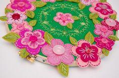 Pretty in Pink - felt flowers