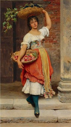 Eugene de Blaas, also known as Eugene von Blaas or Eugenio Blaas, was an Italian painter in the school known as Academic Classicism. Classic Paintings, European Paintings, Beautiful Paintings, Carl Spitzweg, Renaissance Kunst, Munier, Painting & Drawing, Woman Painting, Italian Painters