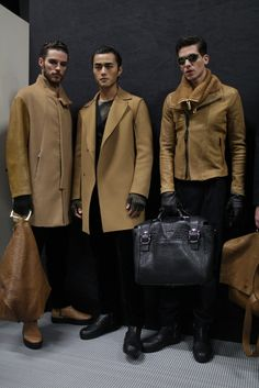 39a4d33bd8cfe Backstage at Emporio Armani Men s Fall 2015