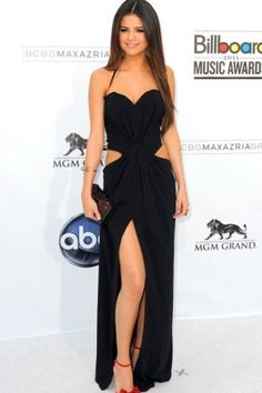 Selena Gomez inspired asymmetrical ruched Chiffon at the Billboard Music Awards -- PromDressShop.com