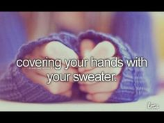 Its SWEATER WEATHER.