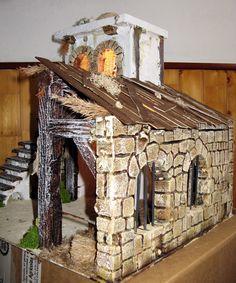 Quiero presentar mi exposición de portales de belen para el fin de semana de Todos los Santos Portal, Firewood, Projects To Try, Bethlehem, Crafts, Medieval, Fantasy, Home Decor, Fairy Garden Houses