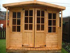 Prefab Sheds, Shed Cabin, Fence Gate, Fences, Roof Lines, Shed Design, Simple Designs, Yard, Outdoor Structures